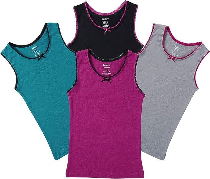 Camisetas sin Mangas para Chica 100% algodón de Colores con Cuello ...