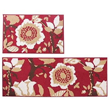 Amazon Com Mustmat 2 Pieces Non Skid Kitchen Rug Set 18 X27 18