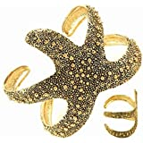 DianaL Boutique Starfish Adjustable Cuff Bangle Bracelet Gold Tone Gift Boxed Fashion Jewelry