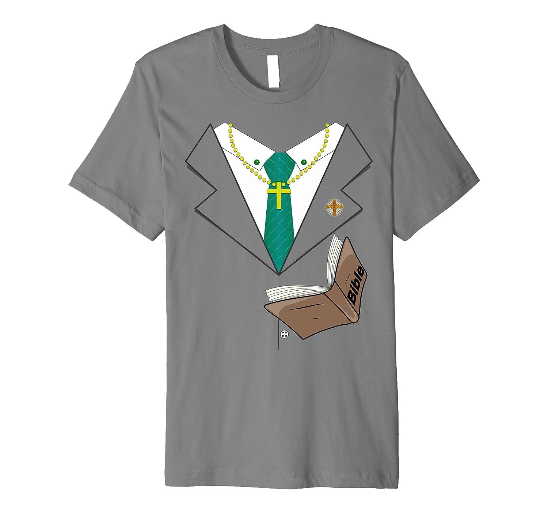 Preacher Suit Tie Halloween Costume Premium T-Shirt