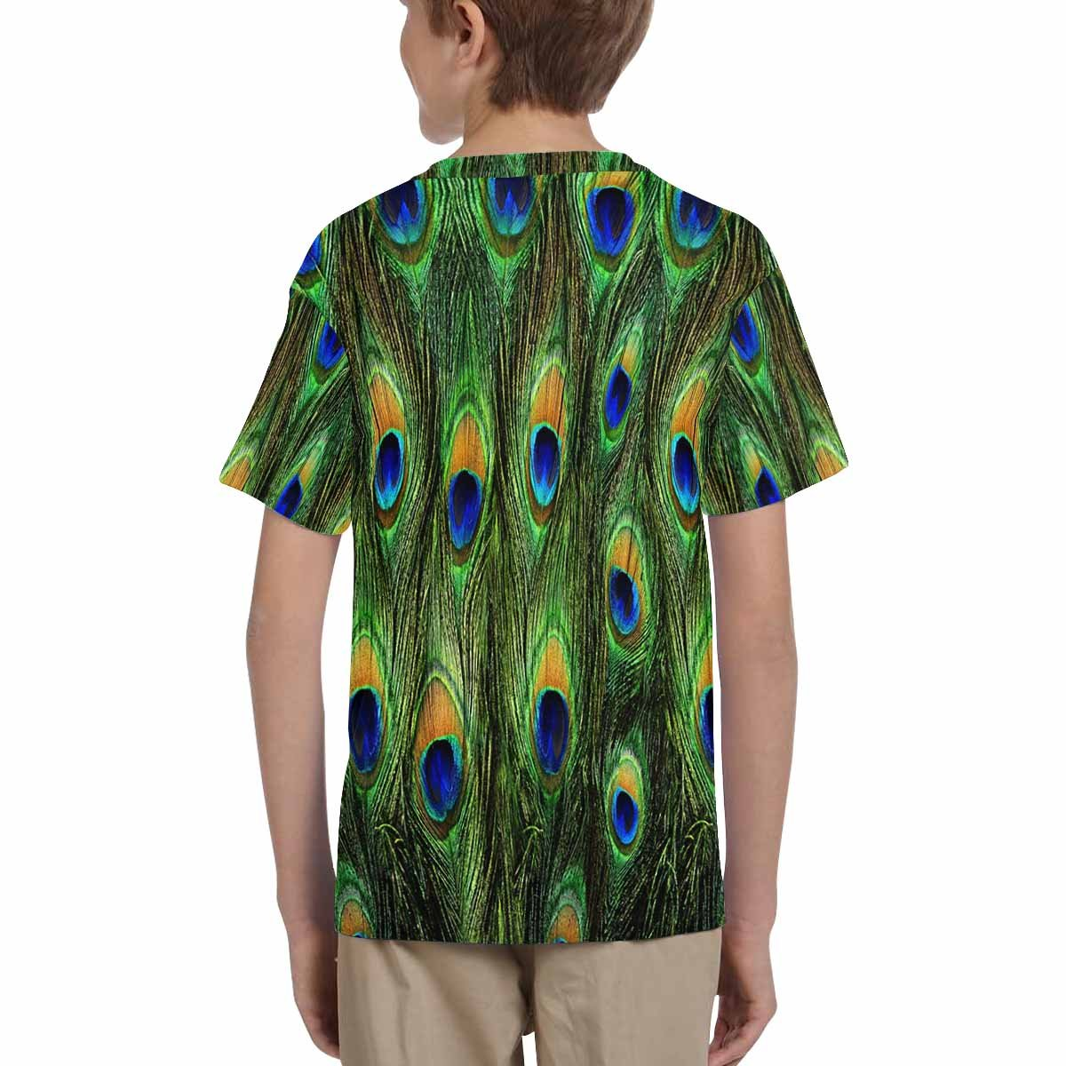 INTERESTPRINT Childs T-Shirt Peacock Feather XS-XL