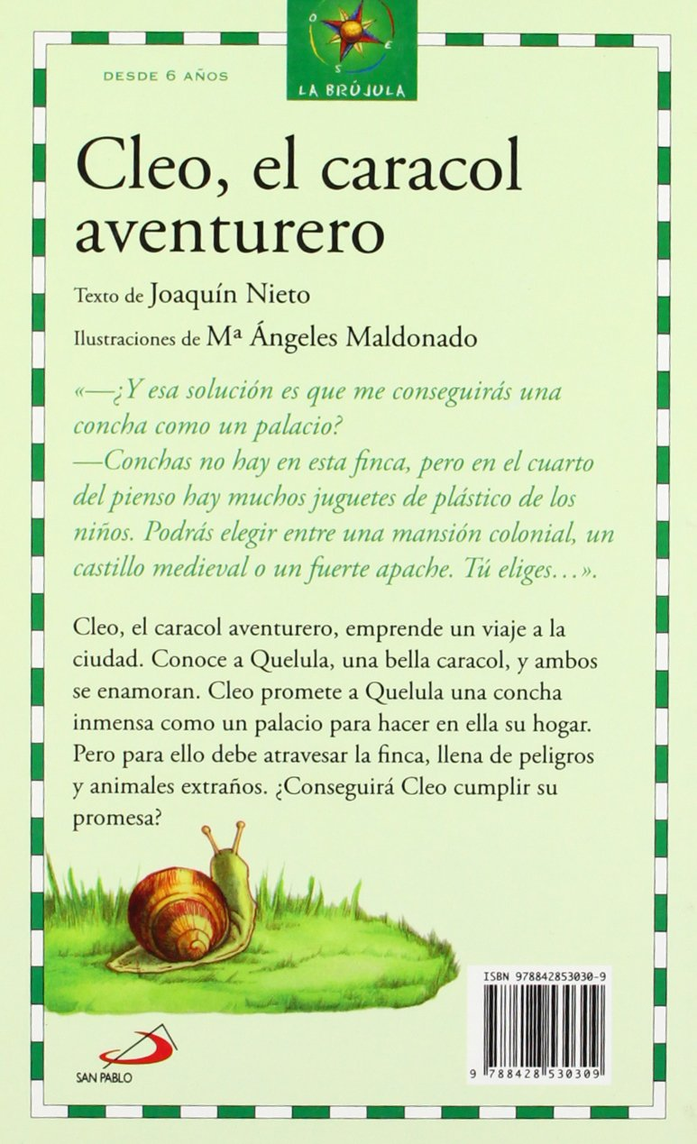 Cleo, el caracol aventurero: JOAQUIN NIETO: 9788428530309: Amazon ...
