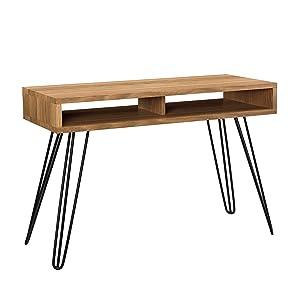 [en.casa] Scrivania 110x45cm tavolo da PC console ufficio tavolo segretario tavolo da computer