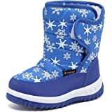 CIOR FANTINY Winter Snow Boots For Boy and Girl Outdoor Waterproof With Fur Lined(Toddler/Little Kids)