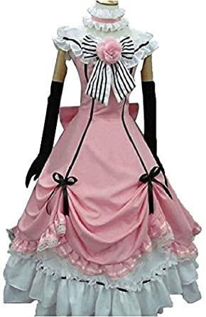 af314dc05 Amazon.com  Decalon Black Butler Cosplay Costume Kuroshitsuji Ciel Dress  Hat Gloves Uniforms  Clothing