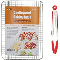 Professional Chef Cooling and Baking Rack,Fits Half Sheet Pans for Cool Cookies,Cakes,Breads - Oven Safe for Cooking,Roasting,Grilling,BBQ - Heavy Duty 100% Stainless Steel 304,Durable