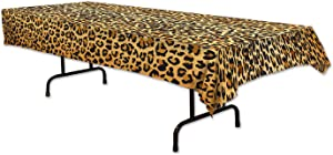 Beistle Leopard Print Tablecover, 54 by 108-Inch