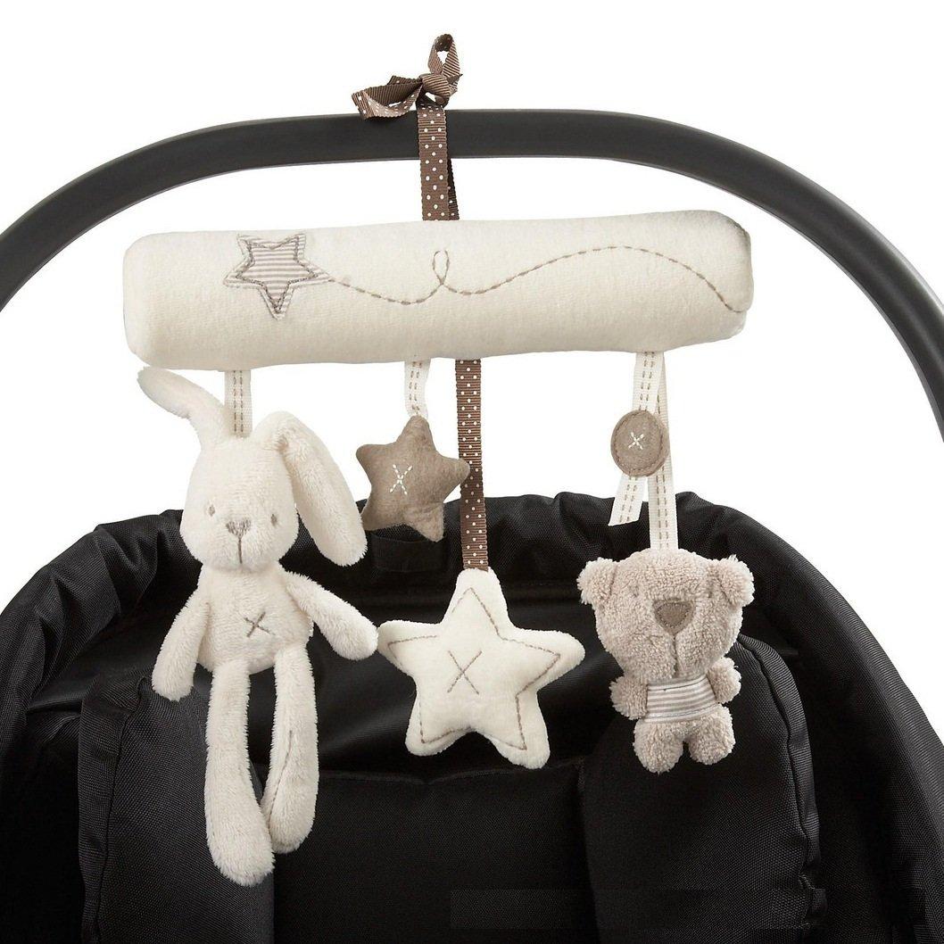 Primi Beau bébé mignon Musique en peluche d'activité de berceau Poussette peluches à suspendre Lapin en forme d'étoile
