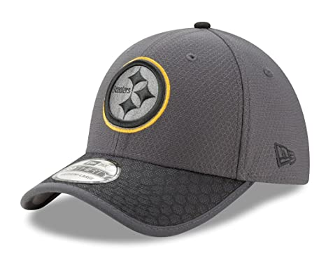 70e00edf710b New Era NFL Pittsburgh Steelers Men s Graphite Black Sideline 39Thirty  Stretch Fit Cap