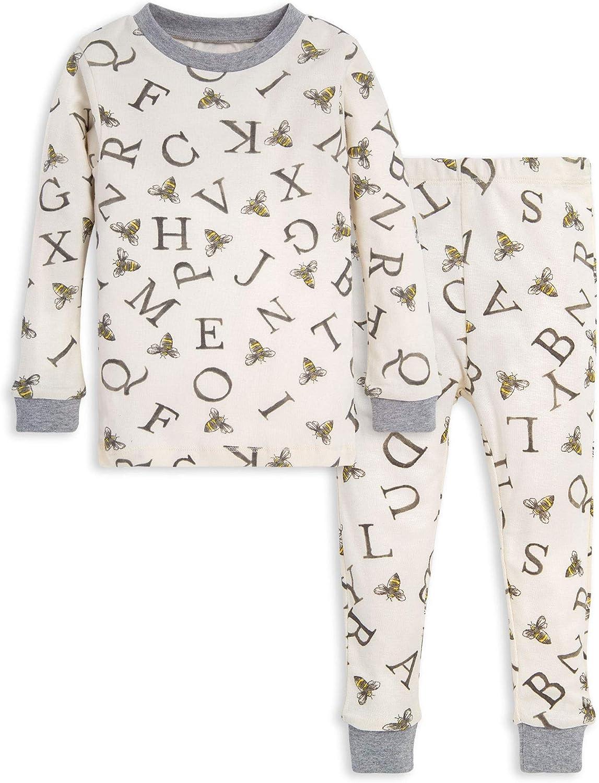 Burt's Bees Baby Baby Pajamas, Tee and Pant 2-Piece PJ Set, 100% Organic Cotton