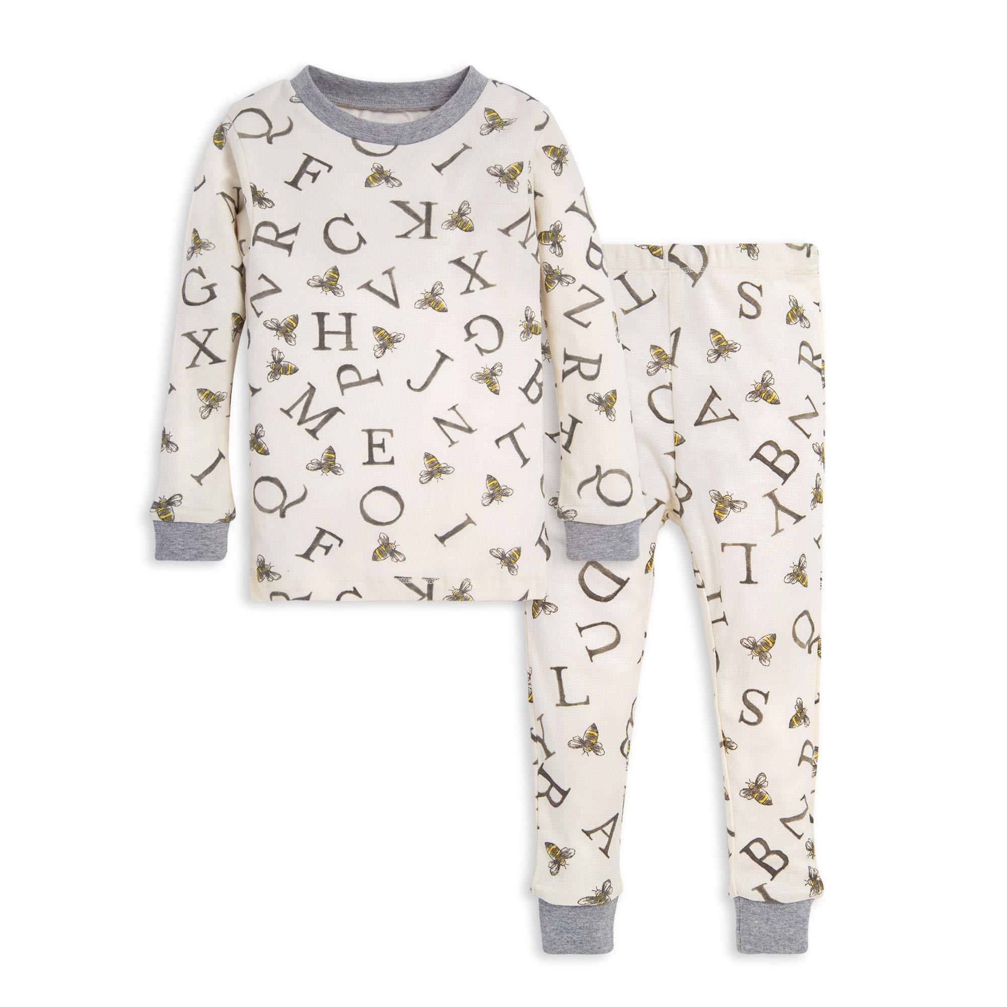 Burt's Bees Baby Baby Little Kids Pajamas, 2-Piece