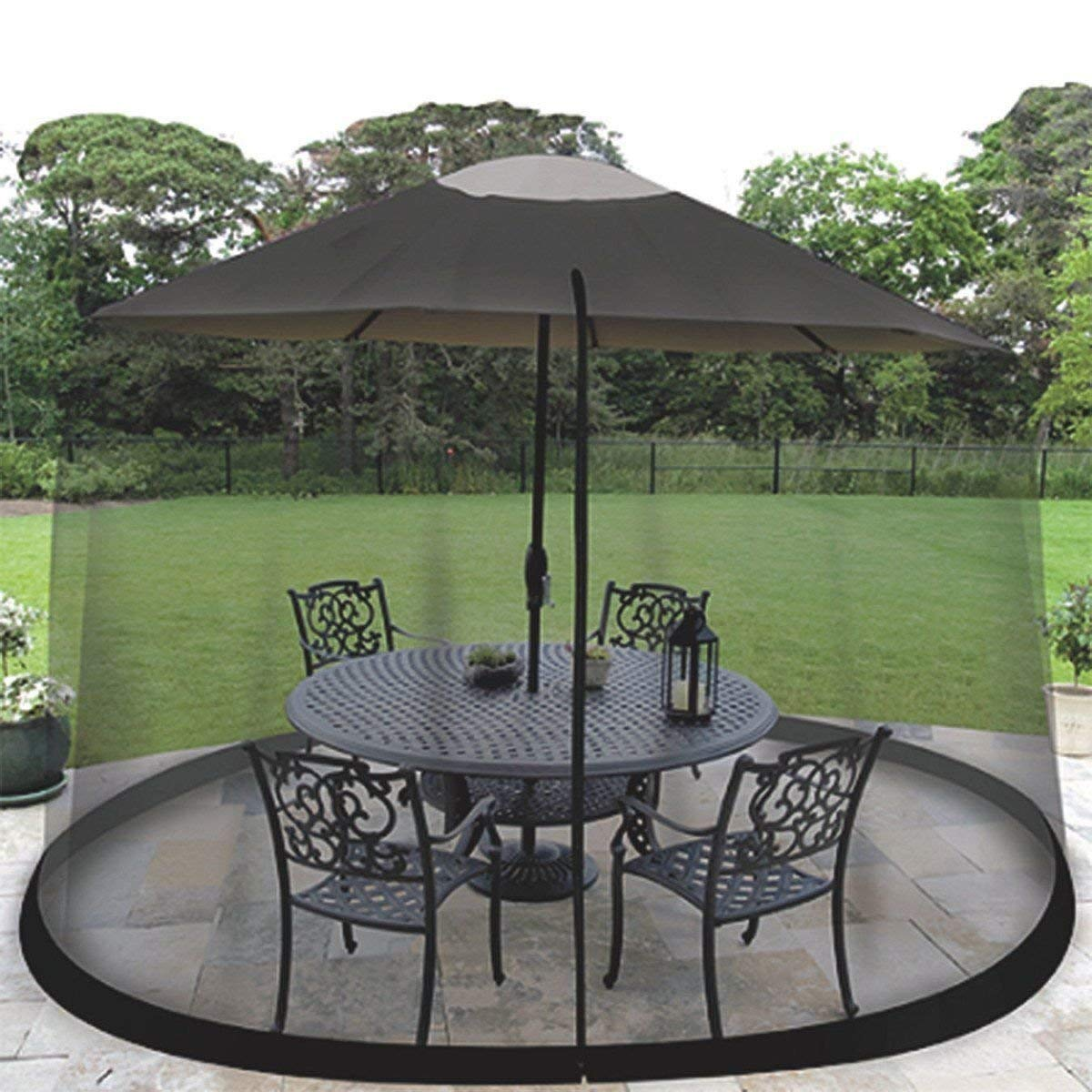 Garden Creations JB5678 Outdoor 9-Foot Umbrella Table Screen, Black by Garden Creations by TBA