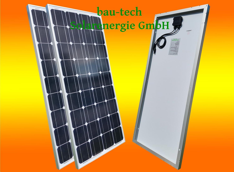 2 pezzi 100 W monokrista Llines pannello solare 12 V solare modulo solare 100 Watt per Camping, Caravan, da giardino di costruzione di Tech energia solare GmbH bau-tech Solarenergie