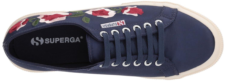 Superga Women's 2750 Embphenw Sneaker B0767VT8Q5 41.5 Medium EU (10 US)|Navy