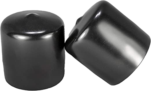 Amazon Com Prescott Plastics 8 Pack Vinyl Round Pipe End Cap Cover Black Rubber Plastic Tube Hub Caps Tubing Post Marine Safety Stretchable Pvc 1 5 1 1 2 Home Improvement