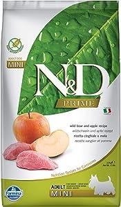 Farmina 5.5-Pound Natural And Delicious Wild Boar Grain-Free Formula Dry Dog Food, Kibble Size: Small Bites