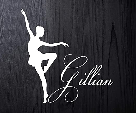 Ballet Girl Sticker Custom Dancing Decal Customized Your Kid/'s Name VINYL