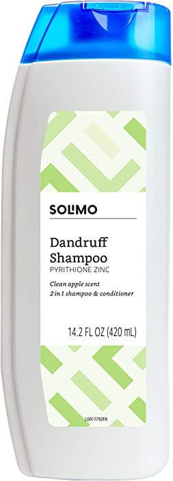 Solimo 2-in-1 Dandruff Shampoo & Conditioner, Green Apple, 14.2 Fluid Ounce