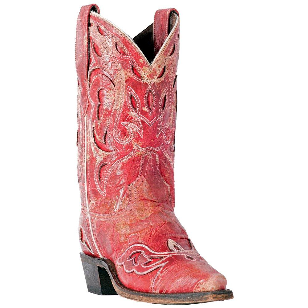 Laredo Women's No More Drama Underlay Cowgirl Boot Snip Toe - 3125 B079FDDH85 9.5 B(M) US|Red