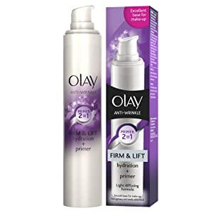 Olay Anti-Wrinkle Firm and Lift 2-in-1 Moisturiser and Anti-Ageing Primer, 50 ml
