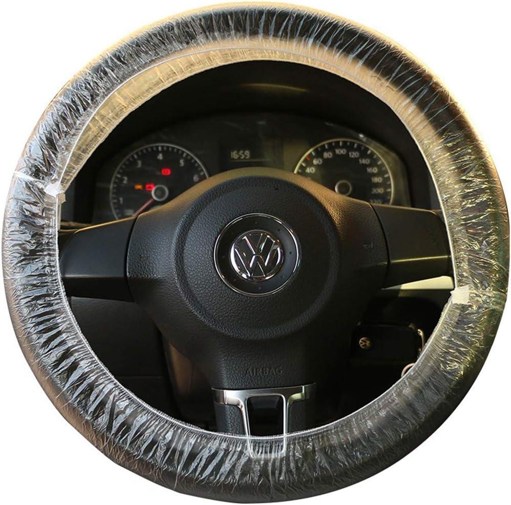 OHHMNKK 100PCS Plastic Disposable Steering Wheel Cover Universal Protector for Car 200Pcs