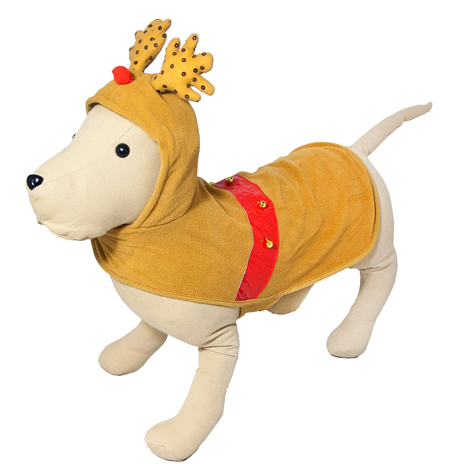 Dog Life Reindeer Suit With Antlers For Dogs & Puppies (Large (43cm))
