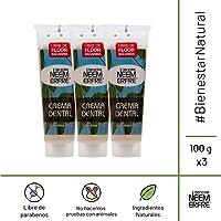Bienestar Neem Erfre - Crema Dental Artesanal Natural de Corteza de Neem sin flúor - Paquete de 3 - 100 g cada una