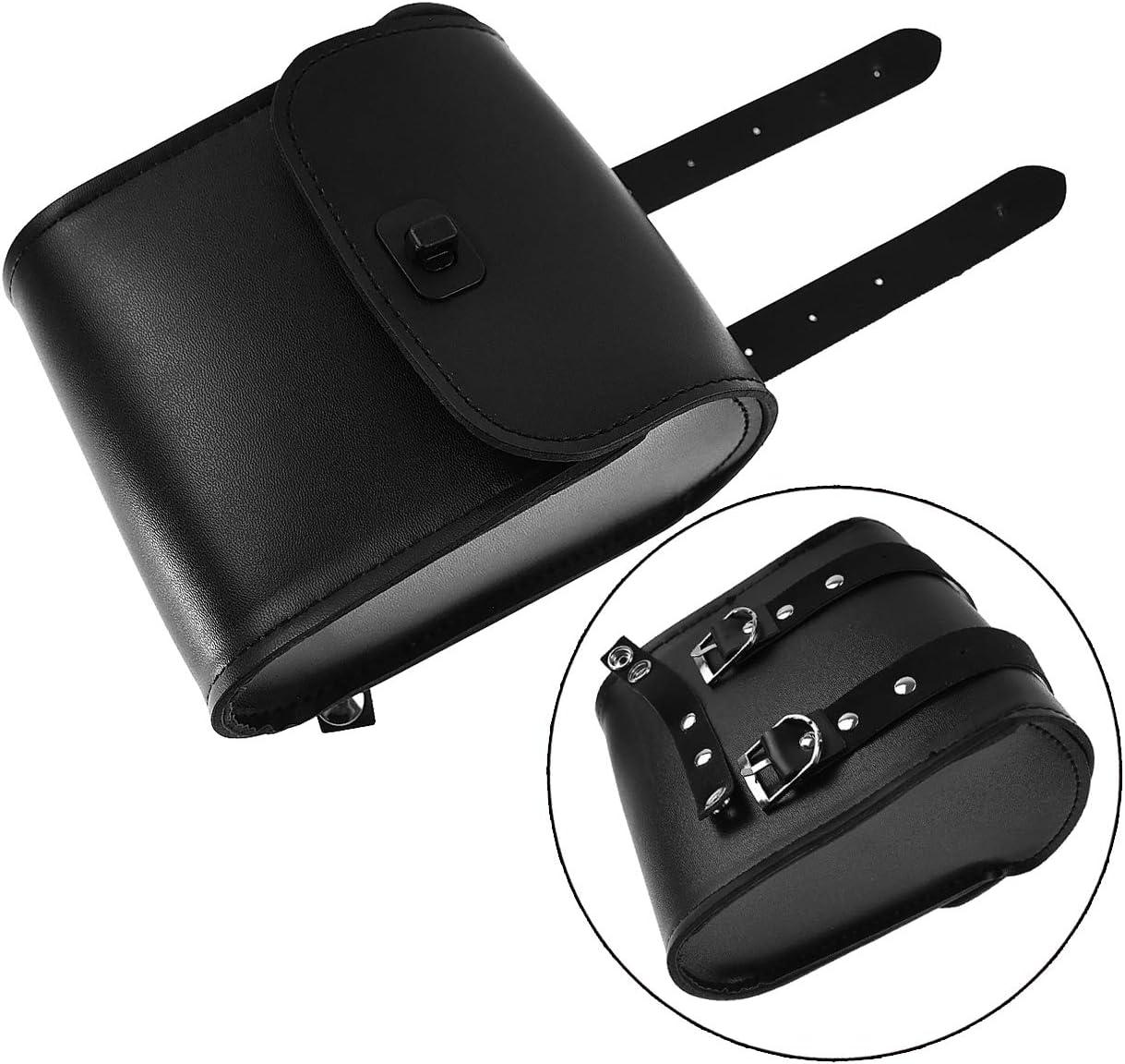 Rebacker Universal Motorcycle Handlebar Bag Tool Case Saddle Bag Belt Pouch Accessories,Brown