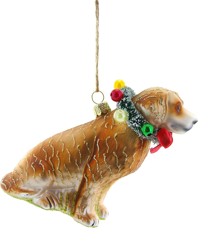 Cody Foster & Co Festive Yellow LAB Ornament