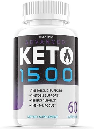 Keto Advanced 1500 Diet Pills Weight Loss Supplement Keto Advance Ketogenic Exogenous Ketones for Men Women (60 Capsules)