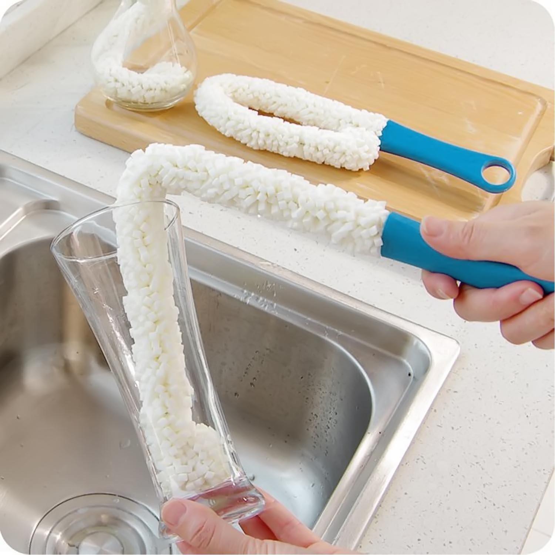 Gosear Esponja Espuma Tubo Flexible Largo Pl/ástico//Limpia el Cepillo de Lavado Depurador para Jarra de Vidrio de Botella de Vino Decantadora
