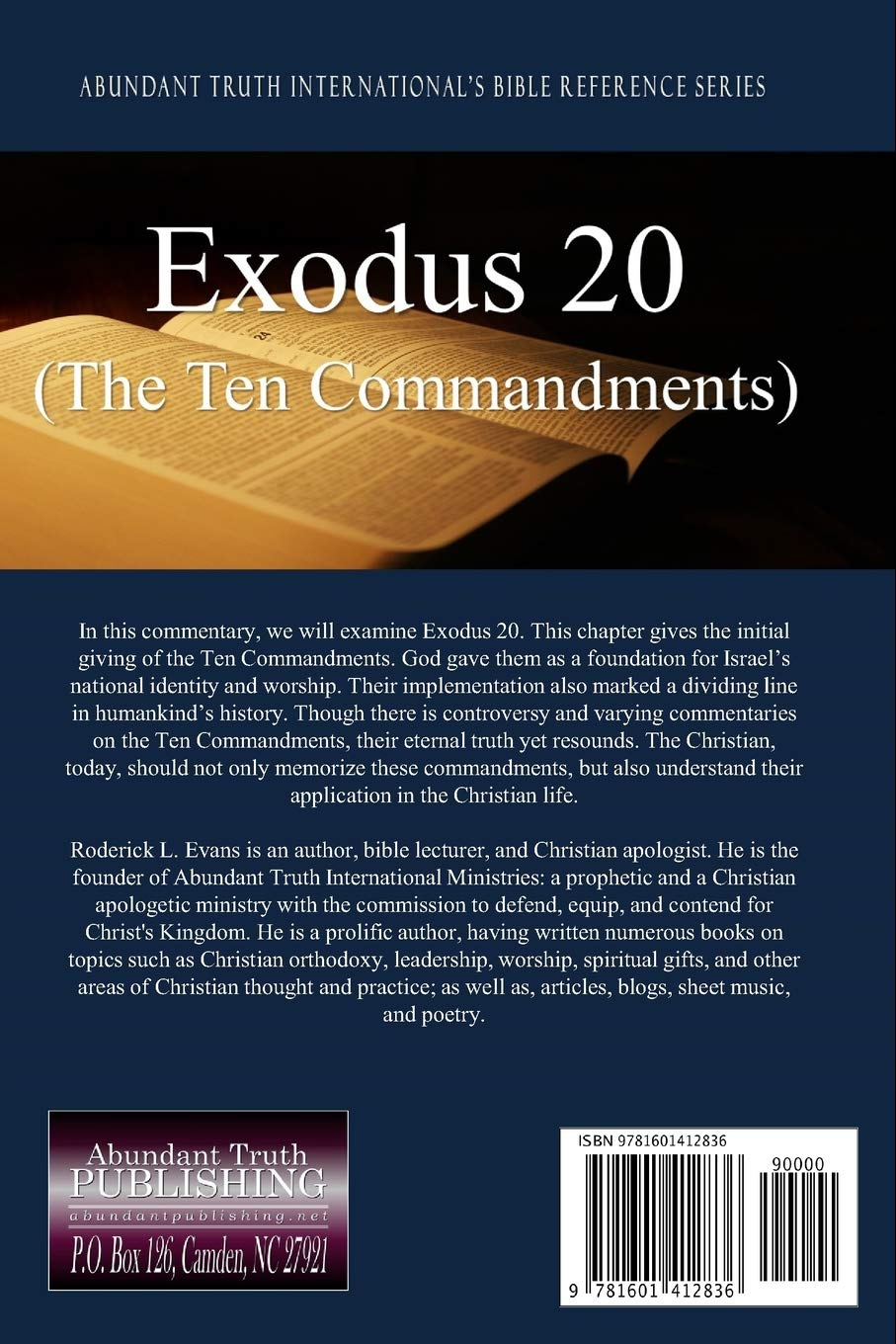 Exodus 20 (The Ten Commandments): The Evans Practical Bible