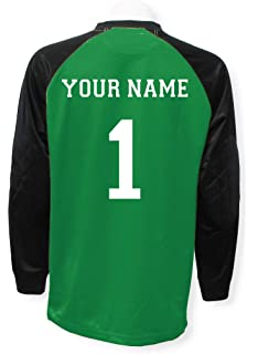 312da24bb Amazon.com  Victory long-sleeve soccer goalie jersey customized with ...