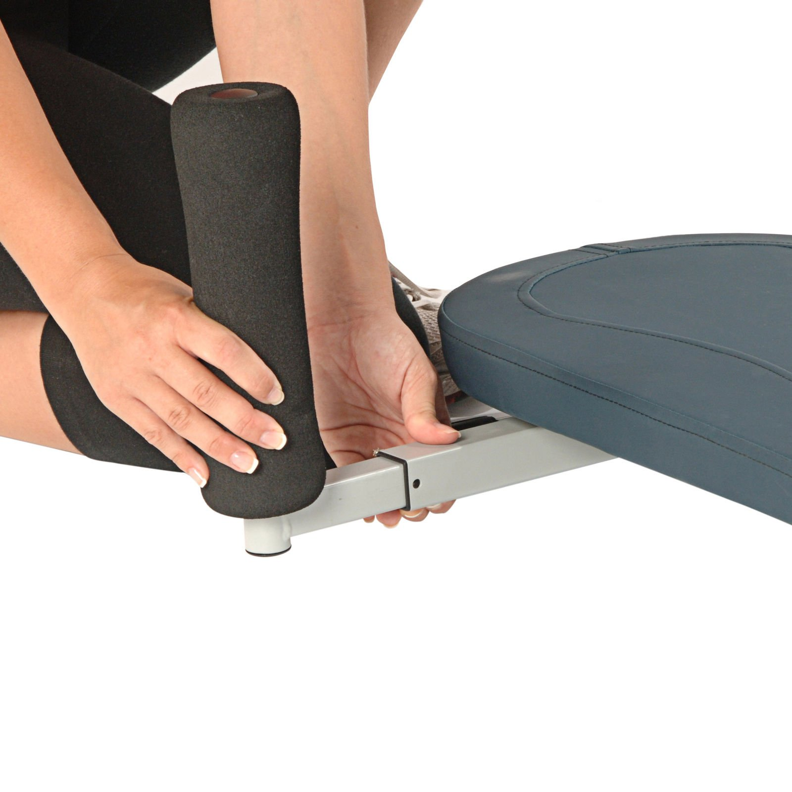 Products InLine Traction System Joints and Back Stretch Bench, Blue Gray With Ebook