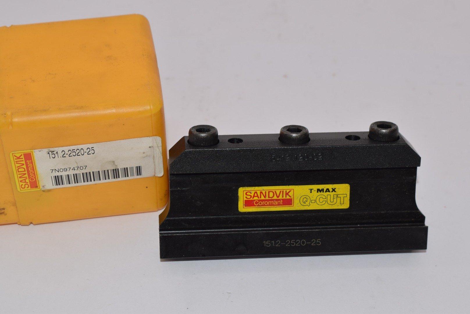 Sandvik Coromant 151.2-2520-25, Steel Tool block for blades, Neutral Cut