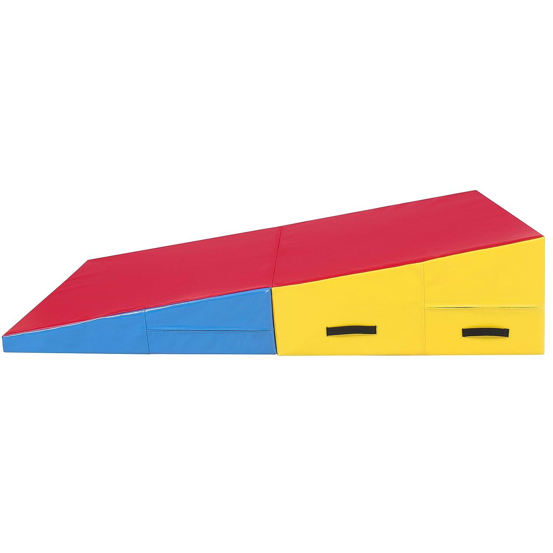 gym tumbling cheese aerobics rakuten wedge shop incline product costway mats gymnastics slope folding mat exercise