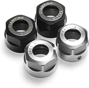 Genmitsu 4pcs ER11-A Collet Clamping Nut for CNC Milling Chuck Holder Lathe