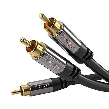 Amazon.com: KabelDirekt RCA Stereo Cable / Cord (6 ft / feet short ...