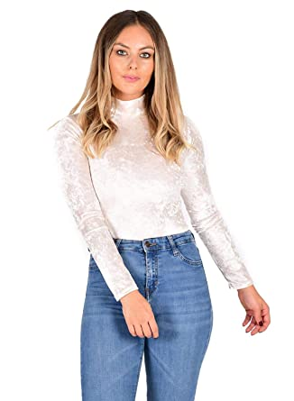 Janisramone - Body - Manches Longues - Femme Noir   Medium  Amazon.fr   Vêtements et accessoires 8e61fd7fc81