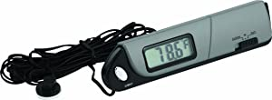 Bell Automotive 22-1-28001-8 Slimline in-Out Thermometer and Clock