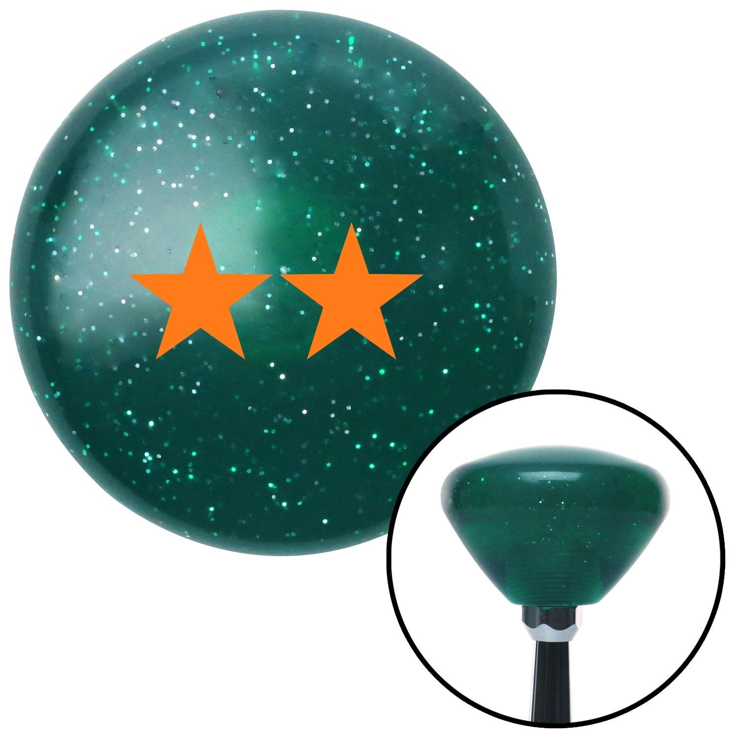 Red Gas Mask American Shifter 246598 Blue Flame Metal Flake Shift Knob with M16 x 1.5 Insert