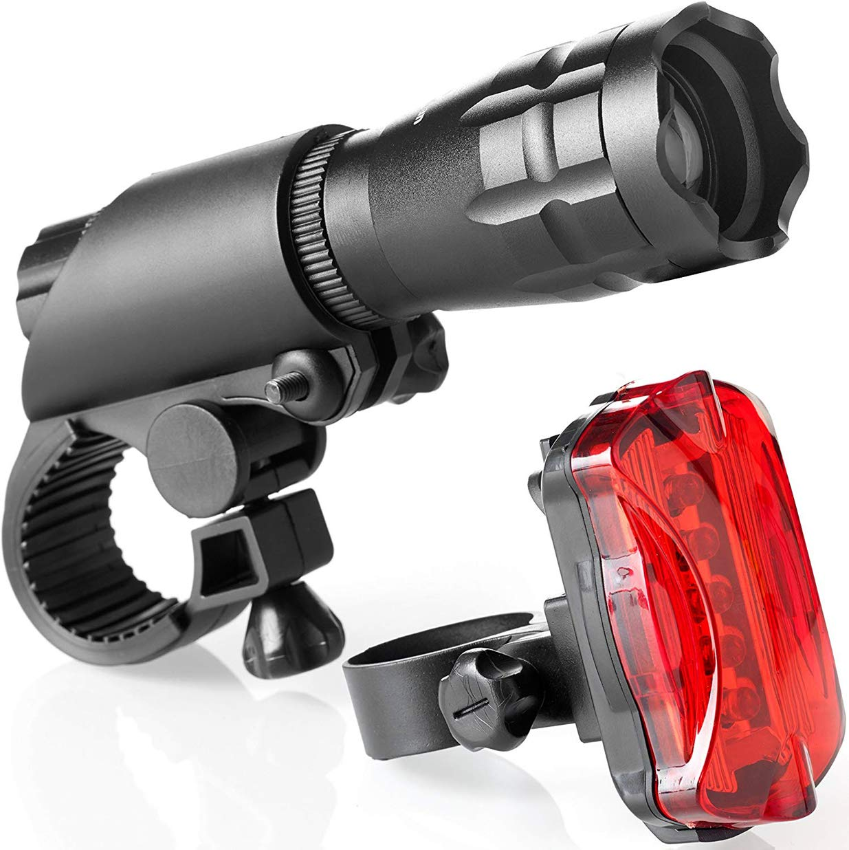 Bike Light Set - Super Bright LED Lights for Your Bicycle - Easy to Mount Headlight and Taillight with Quick Release System - Best Front and Rear Cycle Lighting - Fits All Bikes by Licttkvnon