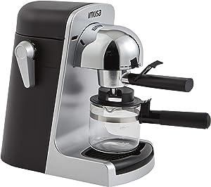 IMUSA USA GAU-18215 4 Cup Bistro Electric Espresso/Cappuccino Maker with Carafe, Silver