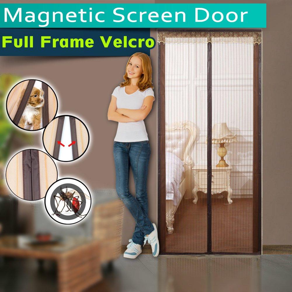 Magnetic Screen Door Full Frame Velcro Instant Bug Mesh