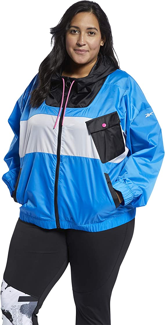 Reebok womens Workout Ready Meet You There Full Zip Jacket