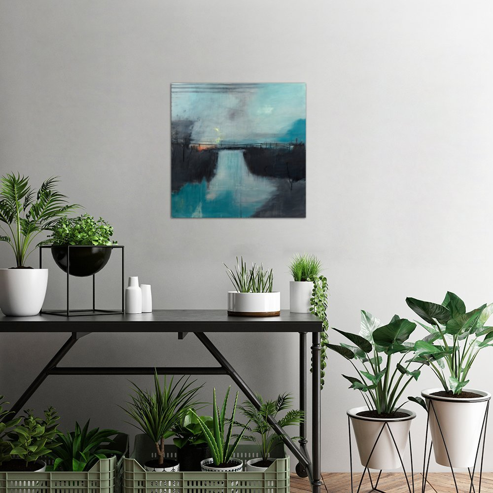 iCanvasART Lake Anywhere Canvas Print by Sidsel Brix 37 x 37