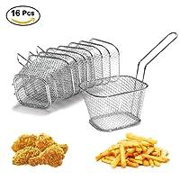 8/16/40pcs Mini cestino per patatine fritte rotondo singoli in acciaio inonxydable piatti di servizio a patatine ideale per casa