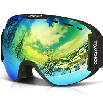 5717afb3275a TOMSHOO OTG Ski Goggles Windproof Dustproof Anti-Fog UV Protection Spherical  Wide Vision Double Lens Detachable Strap Multicolor Goggles For Snowmobile  ...