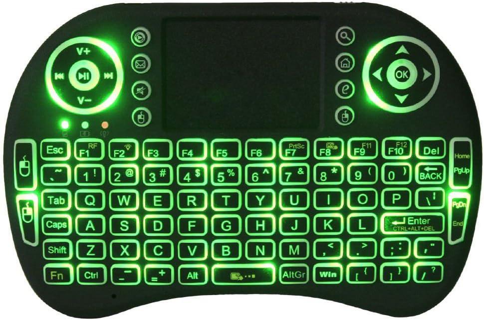 Mini inalámbrico 2,4 gHz teclado retroiluminado, perfecto para ...