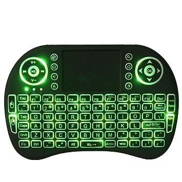 Mini inalámbrico 2,4 gHz teclado retroiluminado, perfecto para Raspberry Pi PC/Android Xbox 360: Amazon.es: Electrónica